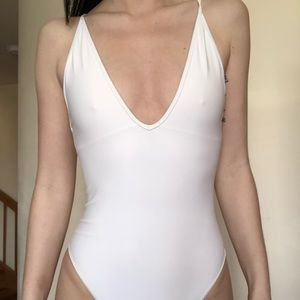 Other - White one piece swimsuit